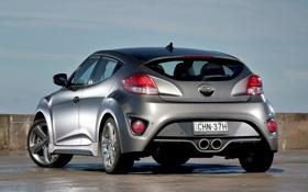 Картинка машина, Hyundai, хёндай, Turbo, задок, Veloster