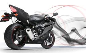 Обои Yamaha, rear, ямаха, YZF-R6, спортивный мотоцикл