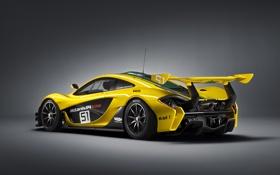 Картинка фото, McLaren, Желтый, Тюнинг, GTR, Автомобиль, Сзади