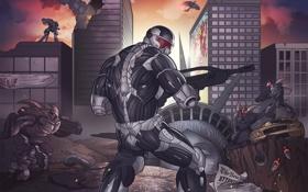 Обои new york, Nanosuit, suit, Crysis 3, Prophet