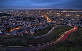 Картинка Twin Peaks, United States, San Francisco, California