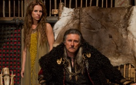 Обои сериал, драма, Vikings, историческая, Викинги, Jessalyn Gilsig, Gabriel Byrne