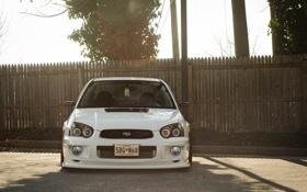 Картинка Subaru, белая, субару, sti, impreza, white, wrx