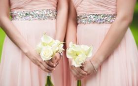 Картинка цветы, букеты, подружки невесты