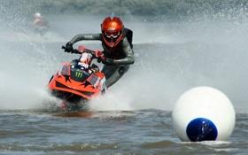 Обои вода, брызги, мотоцикл, водный