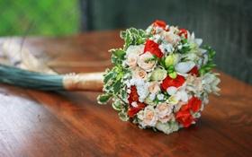 Картинка цветы, розы, букет, свадьба, flowers, bouquet, roses