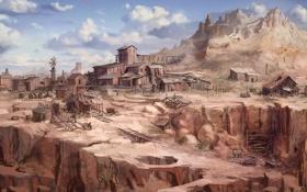 Картинка пустыня, каньон, запад, дикий, Call of Juarez, The Cartel