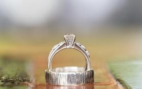 Обои макро, кольца, свадьба, помолвка