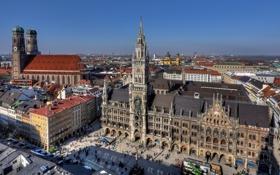 Обои Германия, Мюнхен, Бавария, Germany, Munich, Bavaria, Marienplatz