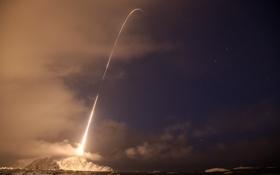 Обои небо, пространство, след, ракета, запуск