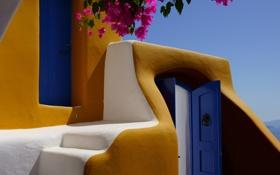 Картинка лето, дом, стены, Греция, курорт, Oia, Notio Aigaio