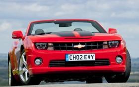 Картинка авто, фары, Chevrolet, Camaro, шевроле, передок, камаро