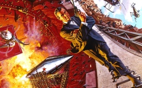 Картинка Джеймс Бонд, агент 007, Человек ракета, Шон Коннори