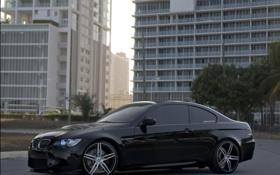 Обои bmw, wheels, black, 360forged, e92, nitto