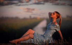 Картинка девушка, свет, вечер
