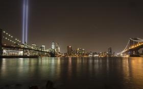 Обои мосты, нью-йорк, new york, bridges, the 9-11 memorial, 9-11 мемориал