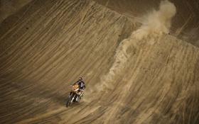 Обои Спорт, Гонка, Мотоцикл, Мото, гонщик, Rally, Dakar