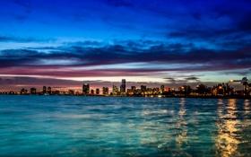 Обои ночь, город, Miami