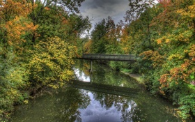Обои мост, природа, река, фото, Германия, Bad Mergentheim