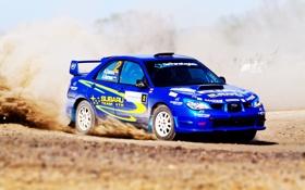 Обои Impreza, Subaru, Спорт, Синий, Rally, Ралли, WRC