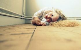 Обои улыбка, настроение, девочка