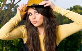 Обои девушка, шляпа, гомез