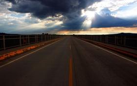 Картинка пейзаж, небо, дорога