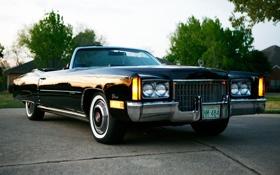 Обои Eldorado, Cadillac, классика, кадилак, Convertible, 1972, эльдорадо