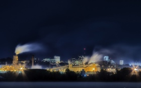 Картинка город, long exposure, Skyline Québec