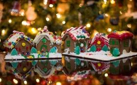 Обои праздник, домики, Красота, вкуснятина, сладкое