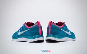 Обои вид сзади, Nike, плетеные, Lunar, Flyknit One+, найки, кроссы