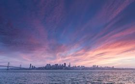 Обои город, утро, мегаполис, San Francisco, панорамма