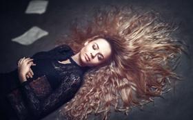 Обои волосы, книга, сон, девушка