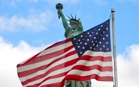 Обои свобода, сила, флаг