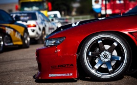 Обои nissan, drift, ниссан, s13, корч, с13