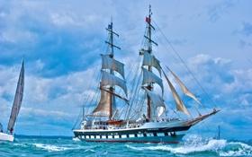 Обои море, парусник, яхта