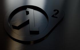 Обои отражение, лого, half life