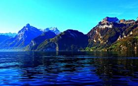 Обои горы, озеро, Швейцария