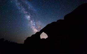 Обои млечный путь, Arches National Park, звезды, ночь, небо