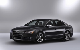 Обои Audi, Черный, Капот, Седан, Автомобиль, TFSI, Передок