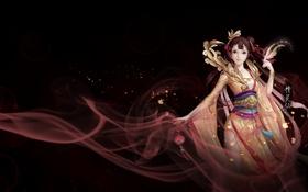 Картинка девушка, игра, аниме, арт, Китай, онлайн