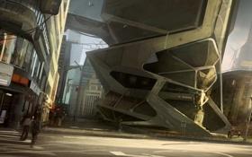 Картинка Город, Будущее, Здания, City, Future