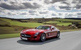 Картинка авто, машины, Mercedes-Benz, автомобиль, SLS