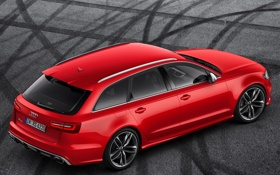 Обои машина, красный, Audi, обои, универсал, Avant, RS6