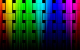 Картинка цветные, радуга, квадраты, прямоугольники