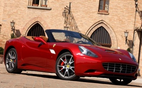 Картинка машина, red, передок, Ferrari California