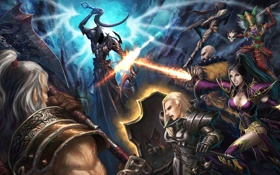Картинка diablo 3, wizard, demon hunter, monk, crusader, barbarian, witch doctor