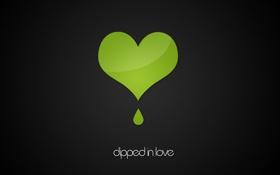 Обои черный, любовь, зеленый, полоски, Серце