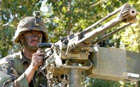 Картинка оружие, солдат, пулемёт