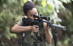 Картинка Sonequa Martin-Green, Sasha, The Walking Dead, сериал, Ходячие мертвецы